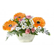 Small mix flower basket