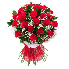 36 round pack red rose designer bunch