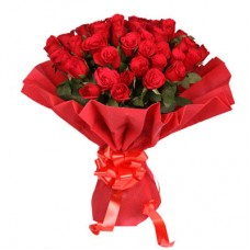 30 red rose red net pack