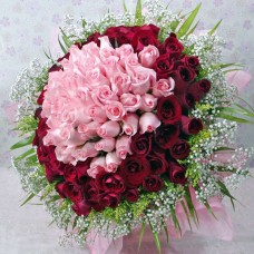 50 red 50 pink rose bunch