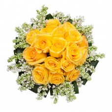 15 yellow rose bunch