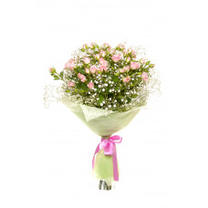 30 Pink Roses with Fillers Designer Bouquet