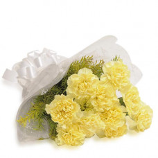 10 yellow carnation bunch
