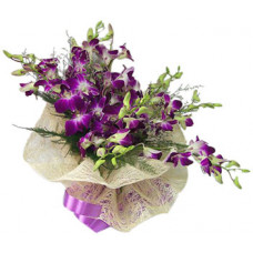 10 orchids in net packing
